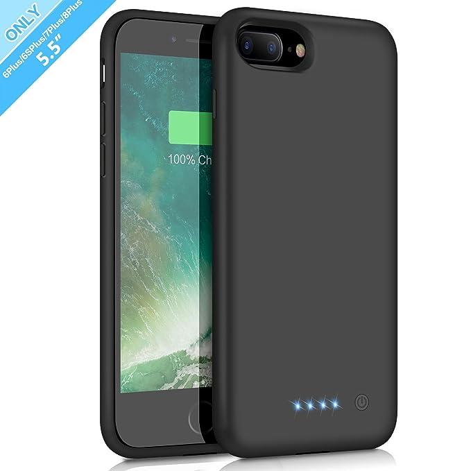 Funda Bateria para iPhone 6 Plus/ 6s Plus/ 7 Plus/ 8 Plus, 8500mAh Batería Cargador Externa para iPhone 6 Plus/ 6s Plus/ 7 Plus/ 8 Plus 5,5 ...