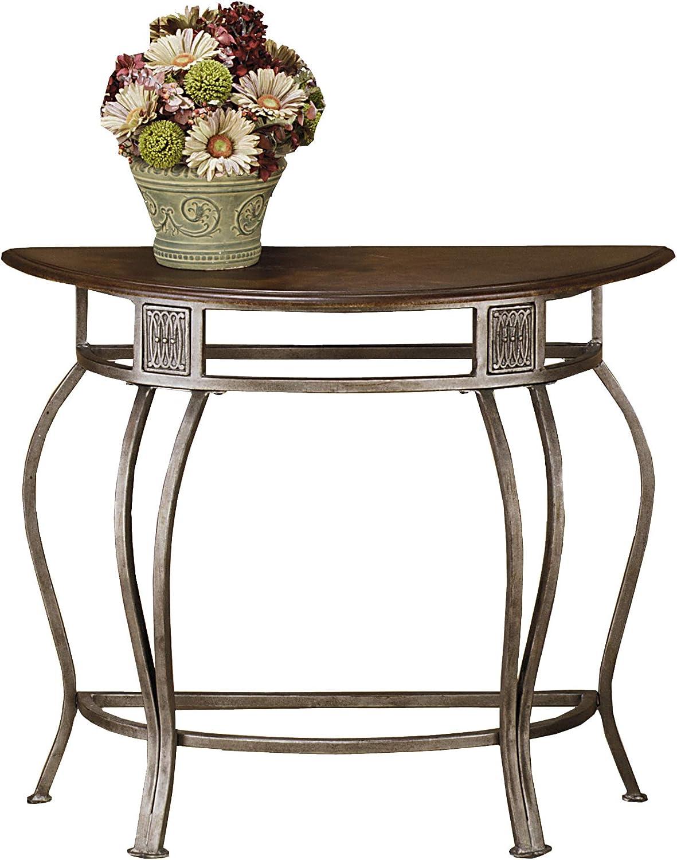 Hillsdale Montello Metal Console Table Old Steel Furniture Decor Amazon Com