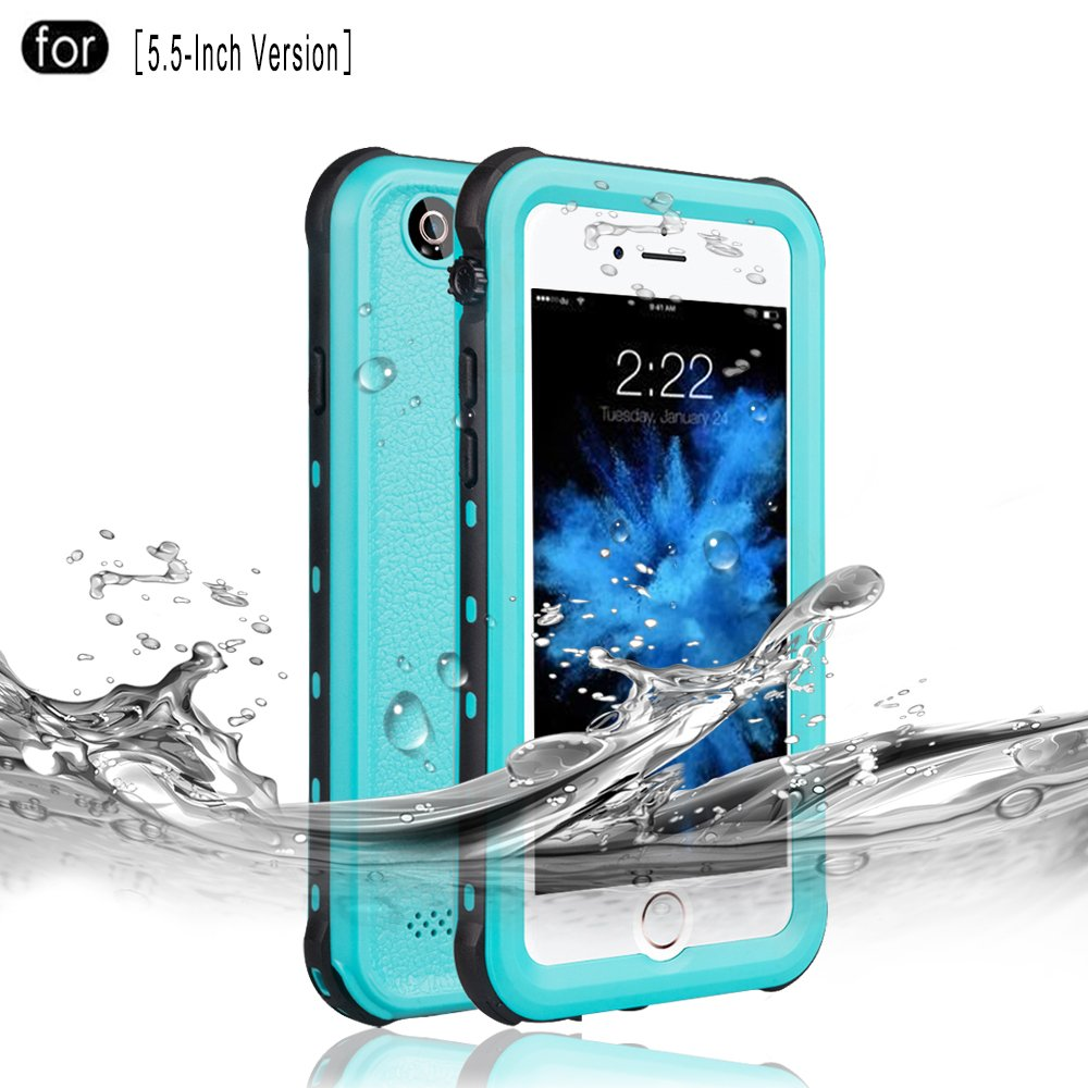 Redpepper Waterproof Case for iPhone 6 Plus/6s Plus, IP68 Certified Drop Resistant Full Sealed Underwater Protective Cover, Shockproof, Snowproof and Dirtproof for Outdoor Sports (Black) Janyi Innovation B075WSWCMN