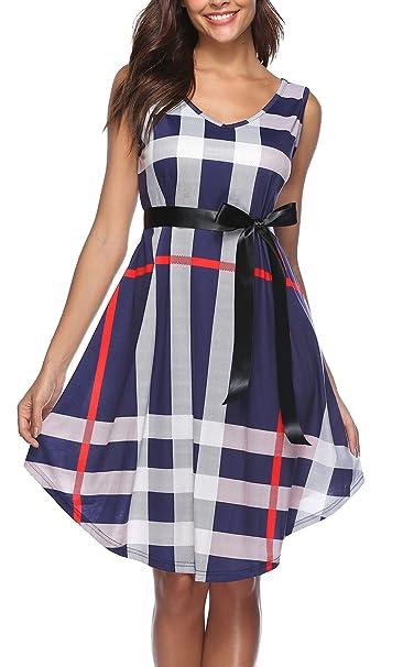 Vestidos de cuadros escoceses mujer
