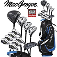 MacGregor DCT2000 Mens Golf Set Deluxe Stand Bag Package Set Steel Shafted Irons + FREE Umbrella & Society Tee Pack Worth £24.00