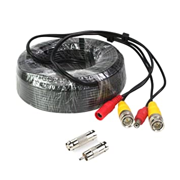 Pre-made All-in-One BNC Video and Power Cable for CCTV Security Camera 60 feet