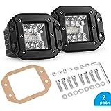 """5"""" Flush Mount LED Pods, 80W LED Backup Lights IP68 Waterproof Reverse Grill Mount Off Road Fog Light Work Light Bar for…"""