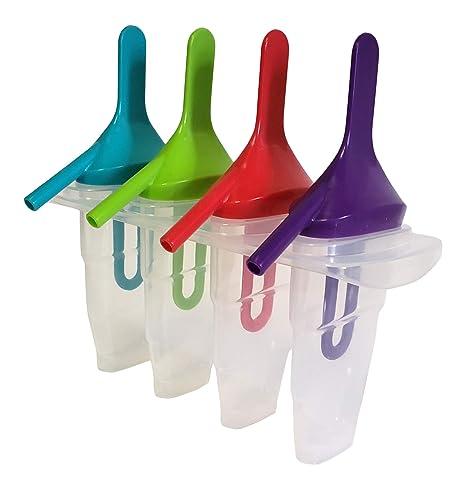 Ice Lolly Pop Molde para hacer palos con pajita sin BPA solo pon ...
