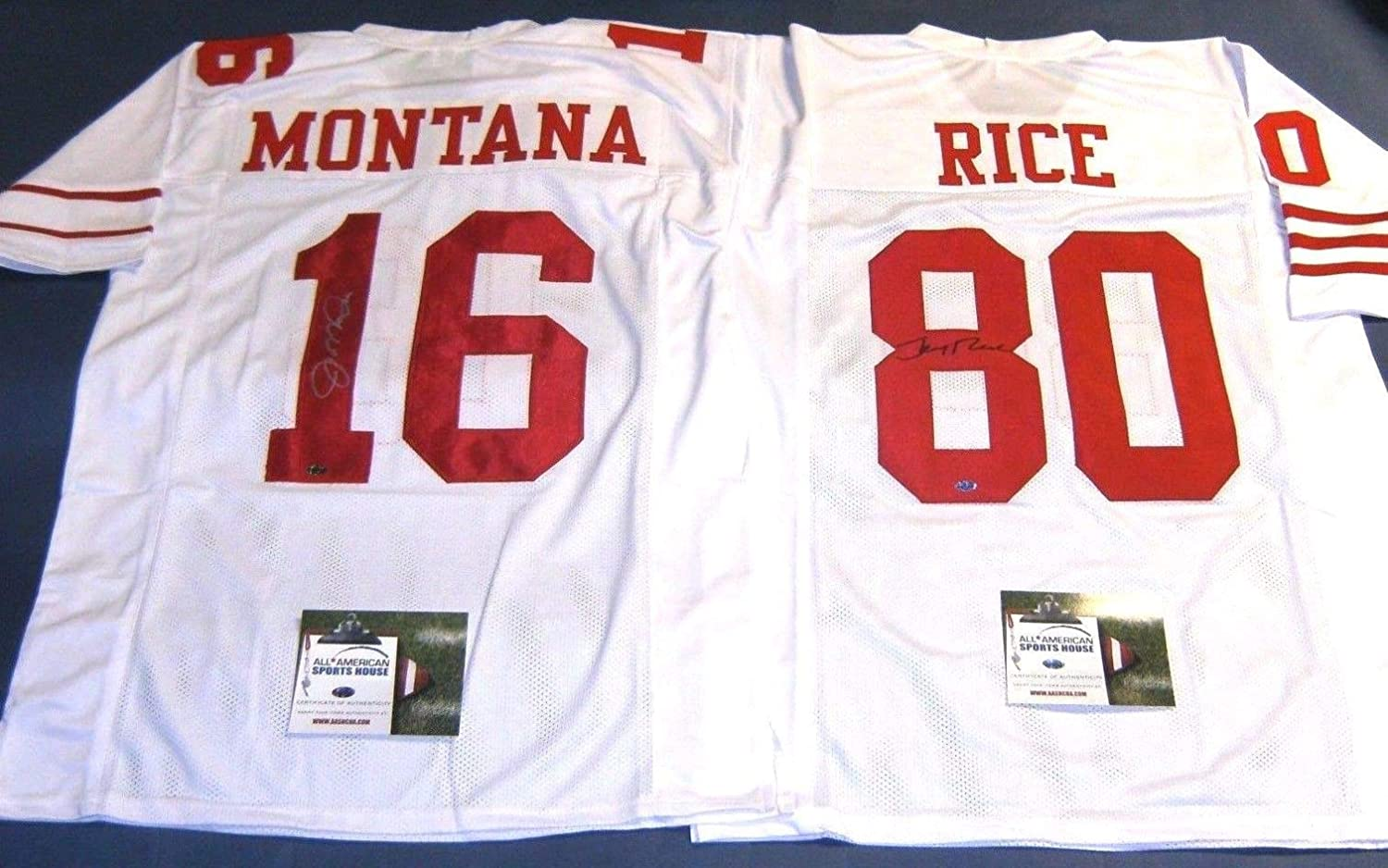 save off 098be 877e7 JOE MONTANA JERRY RICE AUTOGRAPHED SAN FRANCISCO 49ERS ...