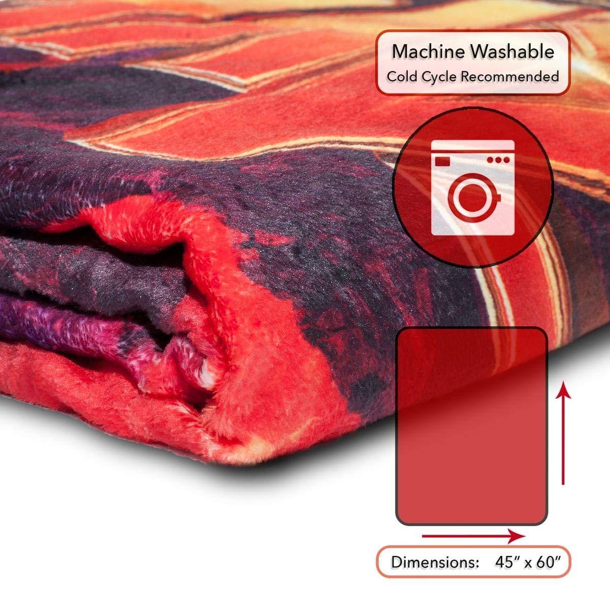 45x60 Inches Surreal Entertainment Licensed Merchandise Marvel Avengers Infinity War Fleece Blanket