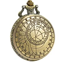 SIBOSUN Pocket Watch Doctor Who Confession Dial Pattern Dr. Who Men Antique Quartz Chain White Dial + Box