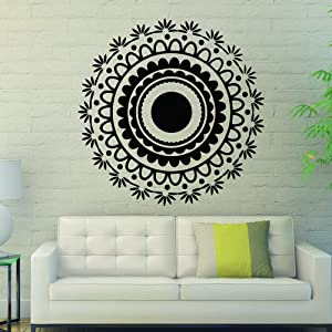 Wall Decals Mandala Om Yoga Circles Indian Pattern Oum Sign Vinyl Sticker Living Room Hall Bedroom Decal Home Decor Art Murals MR366