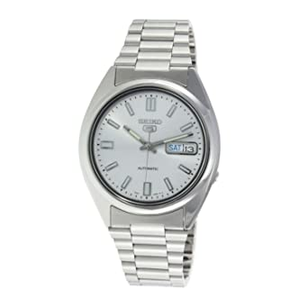 Seiko 5 Gents Automatic watch, stainless Steel, Silver Dial - SNXS73J1 (Made in