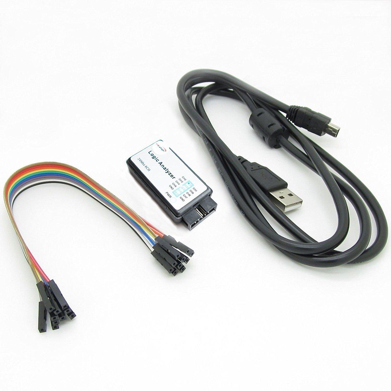 HiLetgo® USB Logic Analyzer Device With USB Cable 24MHz 8CH 24MHz 8 Channel UART IIC SPI Debug for Arduino ARM FPGA M100 SCM