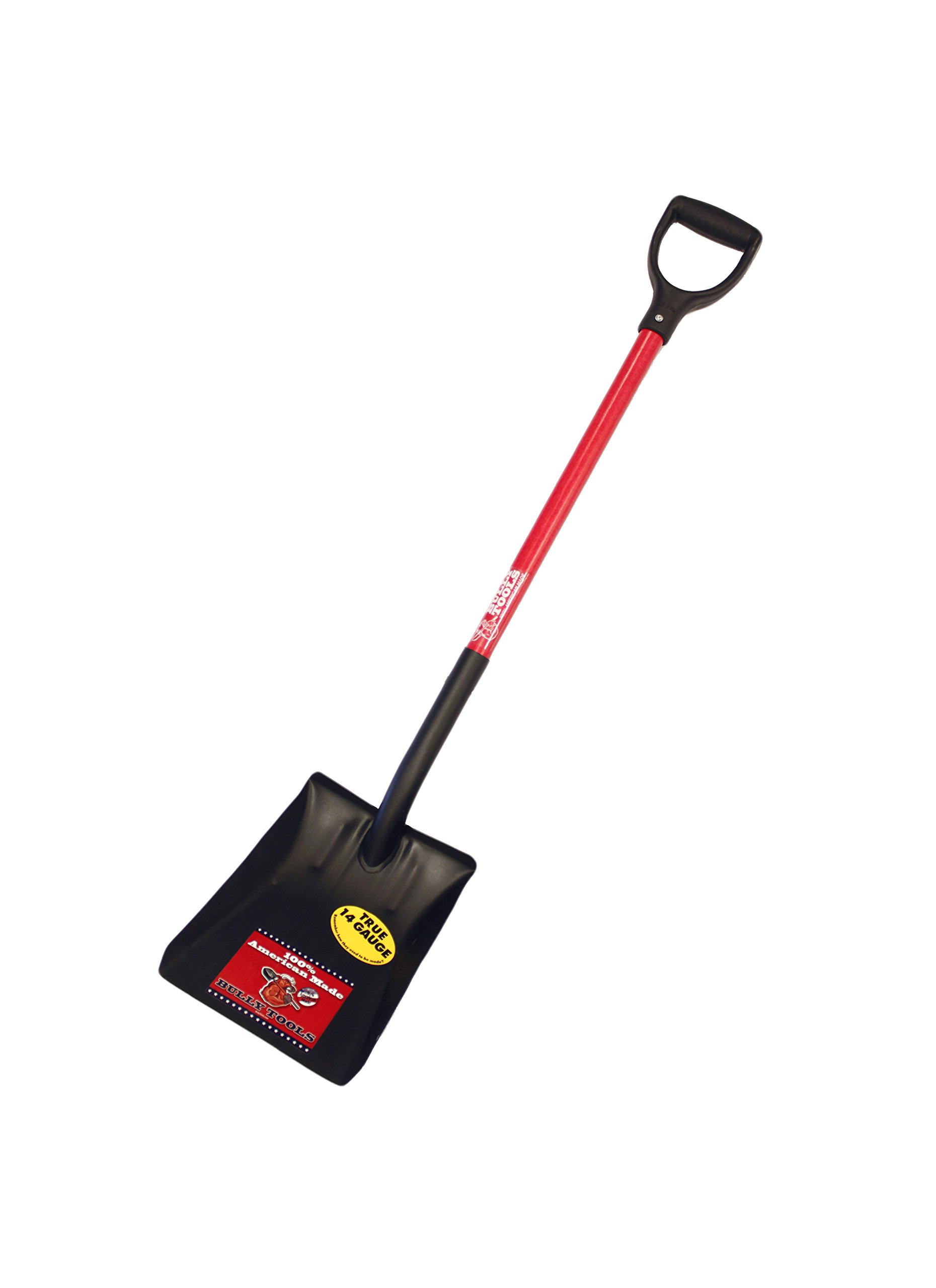 Bully Tools 82520 14-Gauge Square Point Shovel with Fiberglass D-Grip Handle