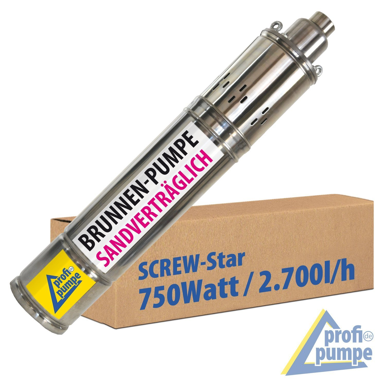 AMUR Screw-Star 750-4 Tiefbrunnenpumpe - AMUR BRUNNENPUMPE SANDVERTRÄGLICHE TIEFBRUNNENPUMPE 4