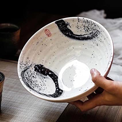 Bowls Home & Garden 7 Inch Japanese Style Ramen Bowls Hand Painted Ceramic Thread Bowl Creative Restaurant Tableware Home Dinnerware Retro Soup Bowl