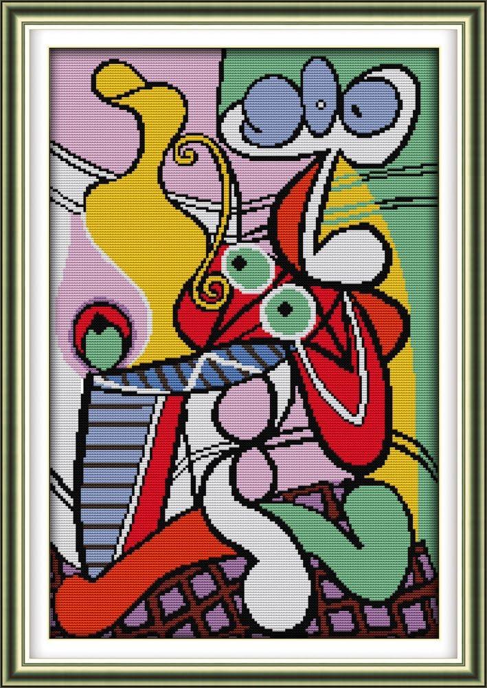 44cm/×64 or 17.16/×24.96 Joy Sunday Cross Stitch Kits,Still Life Style,Picassos Still Life,11CT Counted