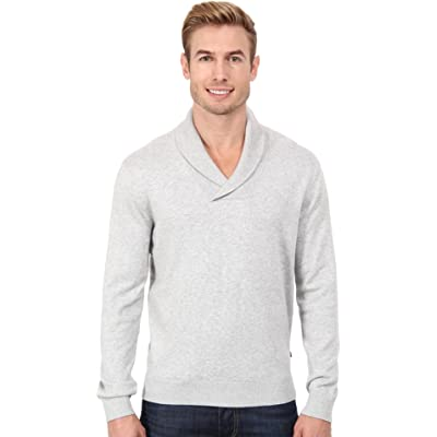 Nautica Men's 12GG Shawl Pullover Jersey Sweater Ice Grey Heather Sweater SM at Men's Clothing store