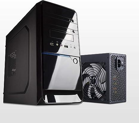 Hiditec CHA010011 Carcasa de Ordenador Micro-Tower Negro 500 W - Caja de Ordenador (Micro-Tower, PC, SECC, Negro, ITX,Micro ATX, 15 cm): Hiditec: Amazon.es: Informática