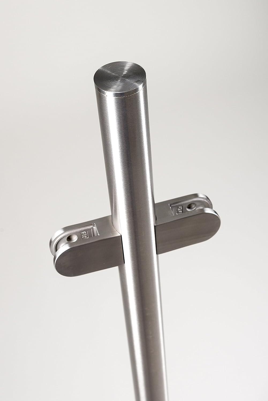 Acier inoxydable de qualit/é 42,4/mm finition satin Balustrade poteaux 1.1/m haute sans rail