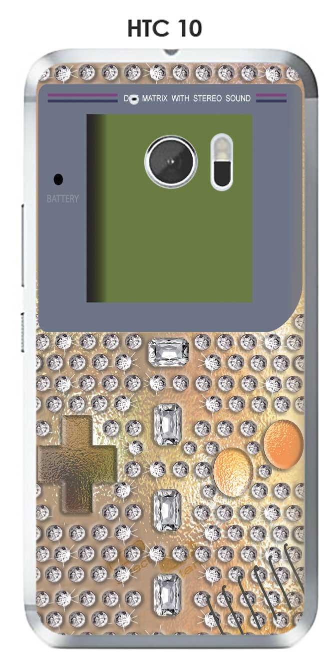 Onozo Carcasa HTC 10 Design Game Boy Diamantes: Amazon.es ...