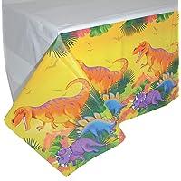 NET TOYS Atractivo Mantel de Papel Dinosaurio - 137x259cm - Original decoración de Fiesta T-Rex cobertor de Mesa…