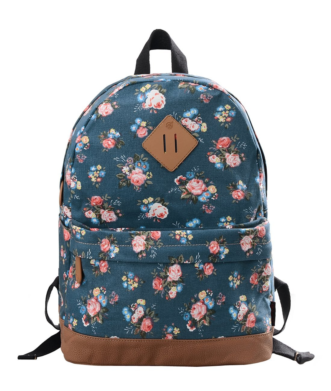 Douguyan Women's and Girl's Backpack Canvas Toddler Backpack School Bags Casual Daypacks Toddler Backpack E00133 Black Peony