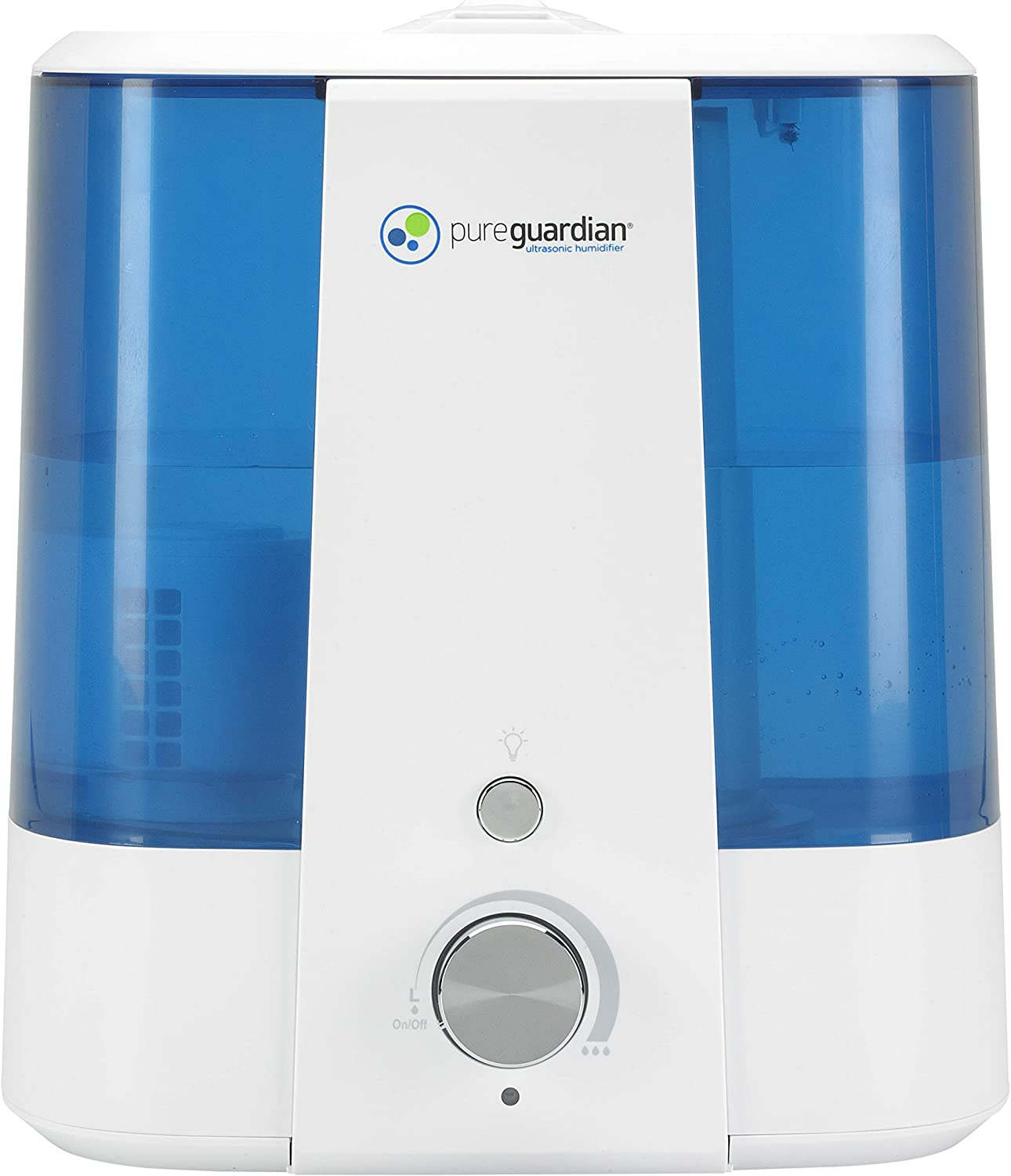 Pure Guardian H1175FL Ultrasonic Cool Mist Humidifier, 90 Hrs. Run Time, 1.5 Gal. Tank Capacity, 390 Sq. Ft. Coverage, Medium Rooms, Quiet, Filter Free, Treated Tank Resists Mold, Essential Oil Tray