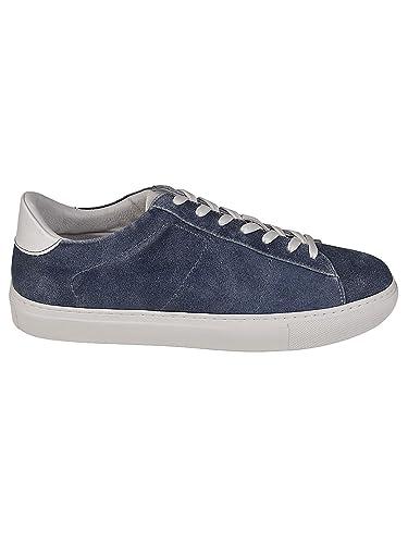 75246e7fd327 Dondup Herren Xs058y373us59du888 Blau Leder Sneakers  Amazon.de ...