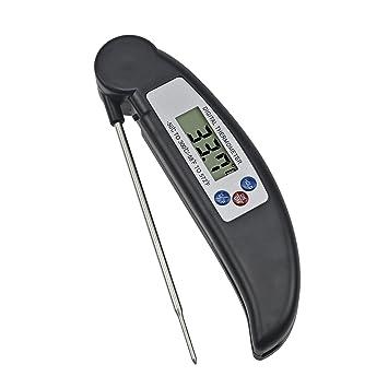 Termómetro digital para alimentos, lectura instantánea, termómetro electrónico plegable/carne, con sonda
