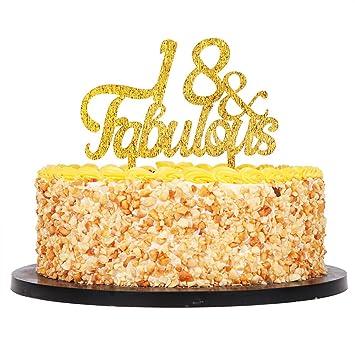 Amazon QIYNAO Gold Premium Quality Acrylic 18 Fabulous Cake