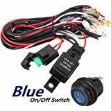Audew Wiring Harness, Heavy Duty Wiring Harness Kit for Led Light bar 300W 12V 40A Fuse Relay On/Off Switch Relay 14AWG 12FT Length Universal Fitment Light Bar Accessories