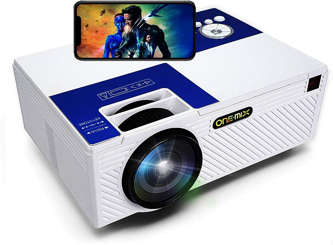 Mini Projector |HD Lumens Home Video Projector | Outdoor Projector Theater Projector 1080P Full HD | HDMI AV USB Micro SD for Home Entertainment, Party
