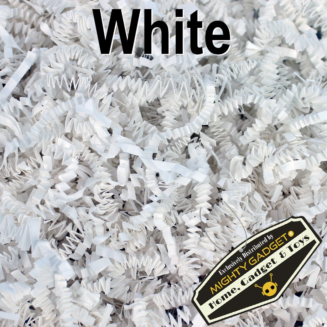 Mighty Gadget (R) 1 LB White Crinkle Cut Paper Shred