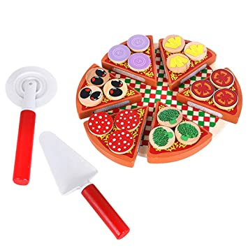 MagiDeal Magnético Pizza Hortalizas Juguete Reutilizables Jugar de Papel de Cocina Regalo de Niños