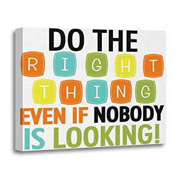 Amazoncom Torass Canvas Wall Art Print Inspiration Do Right Thing