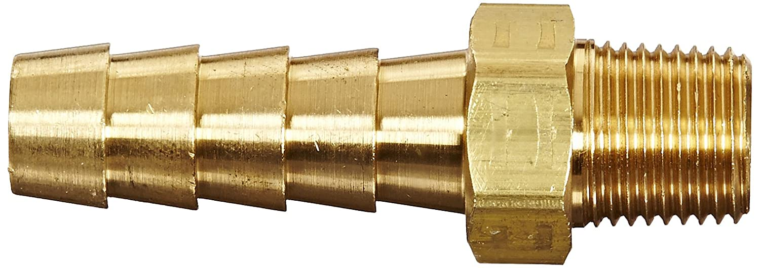 Dixon Valve BN151 Brass Hose Fitting 1//8 NPTF Male x 3//16 Hose ID Barbed Male Insert