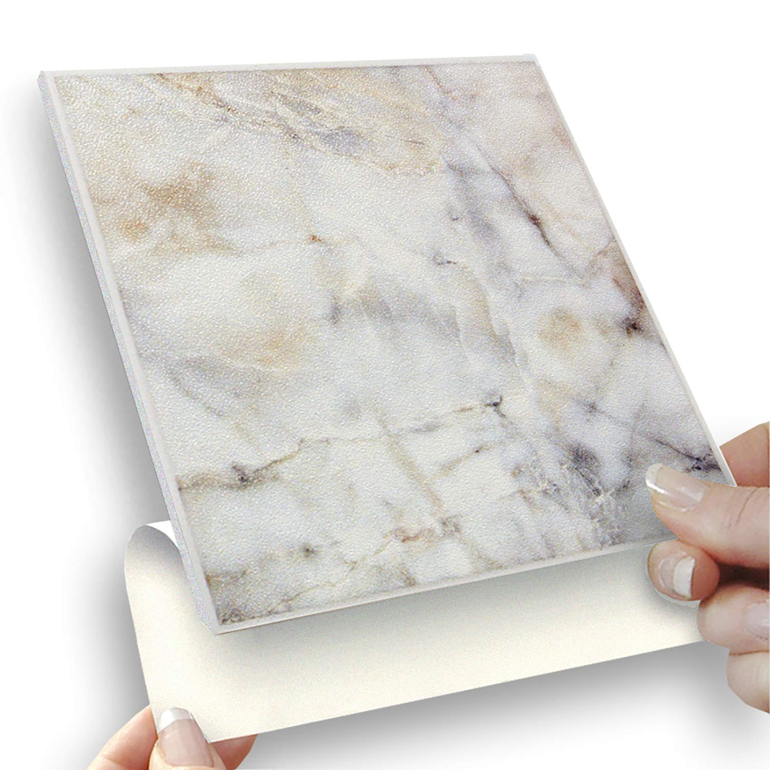 8 SELF ADHESIVE TILES: CLASSIC MARBLE - 6