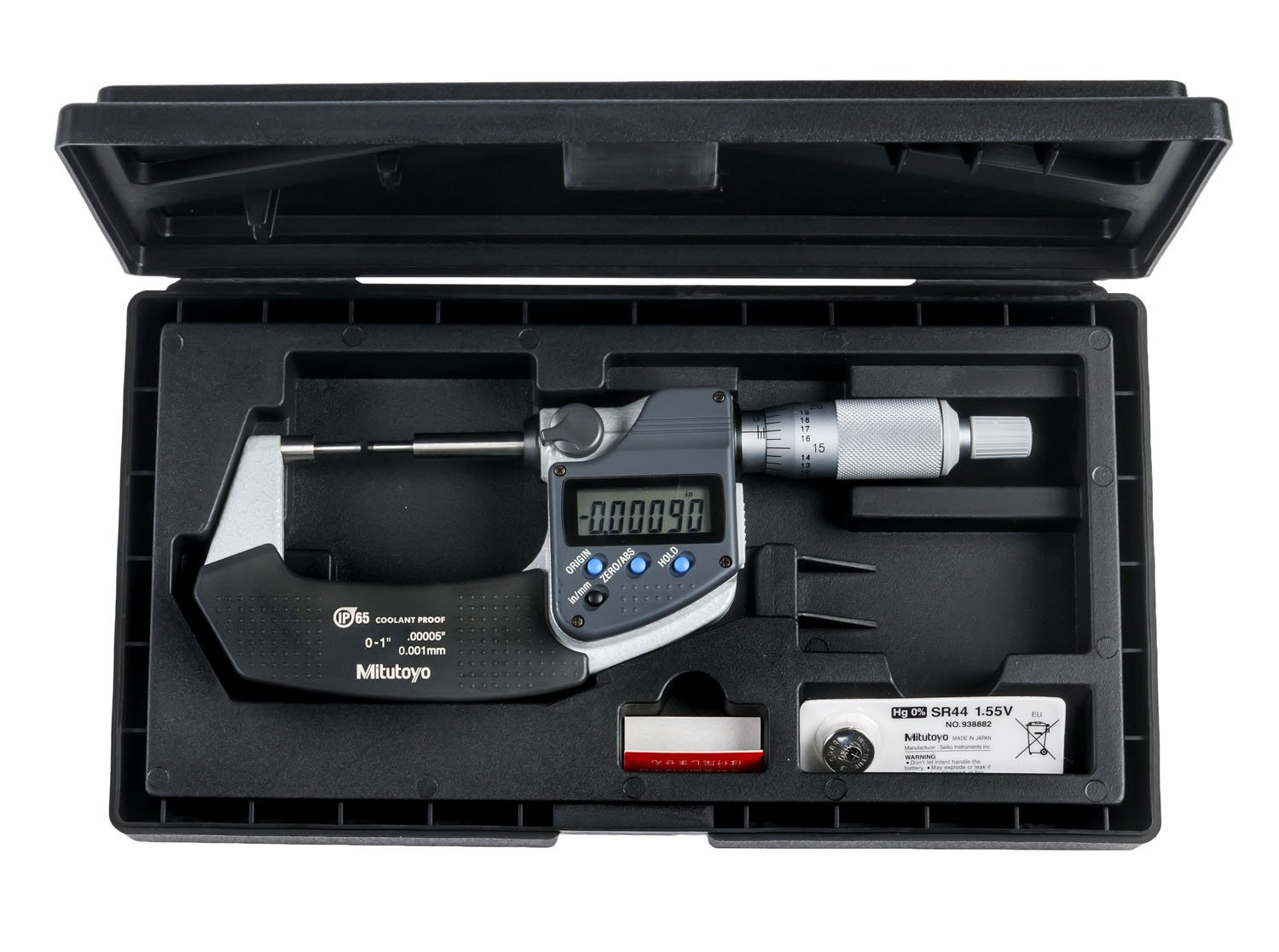 """NEW Mitutoyo 293-336-30 Digimatic Outside Micrometer 1-2/"""""""