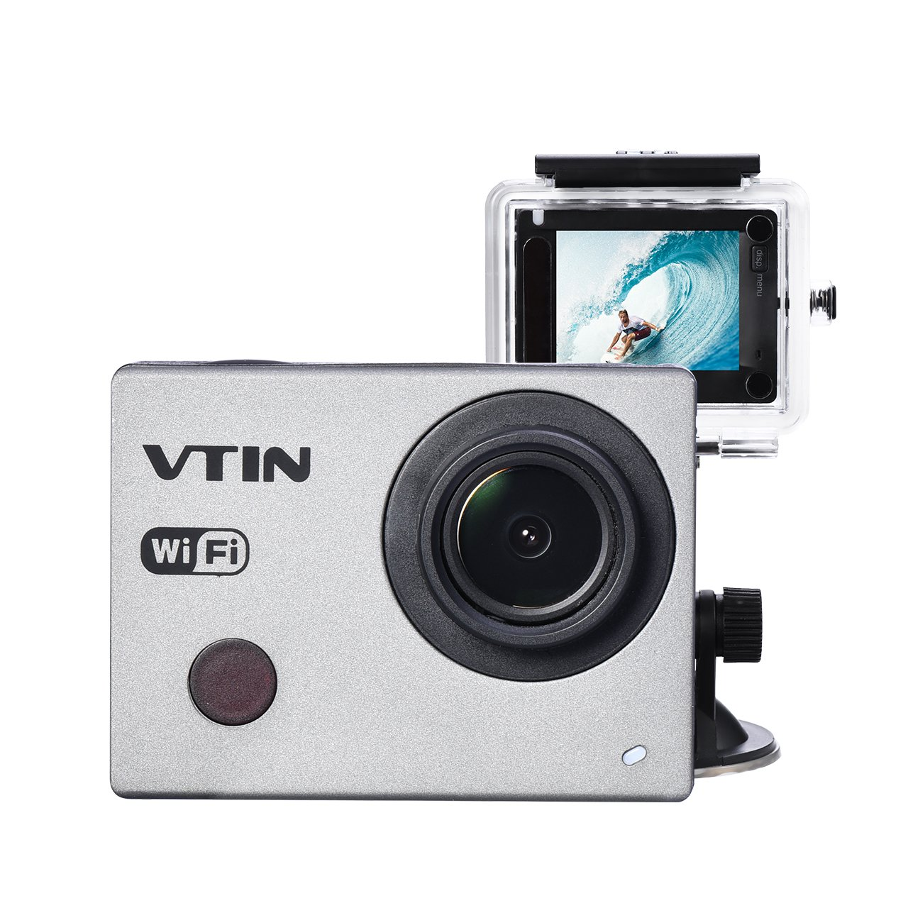 Vtin WiFi Action Video Camera 2-Inch 1080P 30fps FHD Sports Camera Waterproof DV Camcorder with Wrist Remote Control - 2 Batteries VD-VNOD050AB