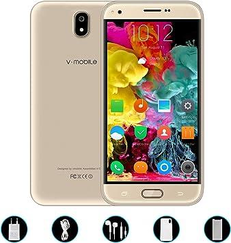 Telefonos 4g Baratos,8Pcs 5.5 Pulgadas 8GB ROM Doble Sim 5MP Cámara 2800mAh Batería Android 7,0 Smartphone Telefono Movil Libres Baratos 1.3GHz Quad Core V Mobile J5(1Oro): Amazon.es: Electrónica