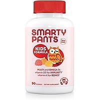 SmartyPants Kids Formula Daily Gummy Vitamins: Gluten Free, Multivitamin & Omega 3 Fish Oil (Dha/Epa), Methyl B12…