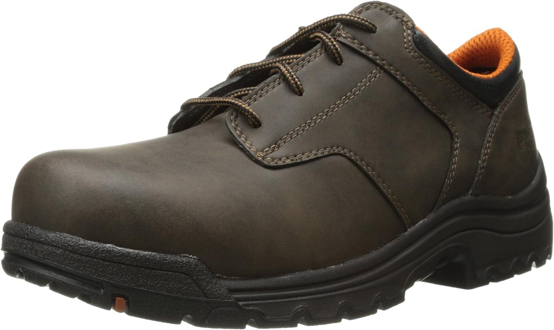 Titan Comp-Toe Brown Oxford Work Shoe