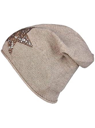 eab89cf9c92ab9 Zwillingsherz Slouch-Beanie-Mütze mit Kaschmir - Hochwertige Strickmütze  für Damen Mädchen - Hat