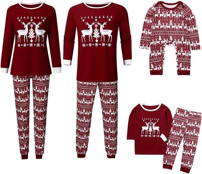 K-Youth Ropa para Padres e Hijos Pijamas de Navidad Familiar Ropa de Dormir Familiares Navideño Mameluco Bebé Niña Conjuntos Bebe Niño Navidad Ropa Mujer Hombre Invierno: Amazon.es: Ropa y accesorios