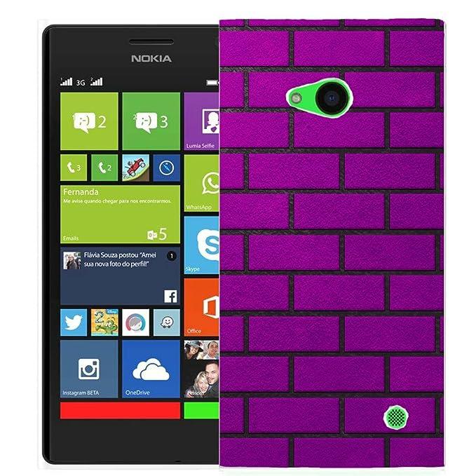 pheonix carcasa para Nokia Lumia 730 – Morado ladrillo
