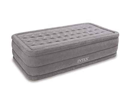 effdb4d2df976 Image Unavailable. Image not available for. Color  Intex Ultra Plush Airbed  with Built-in Electric Pump ...