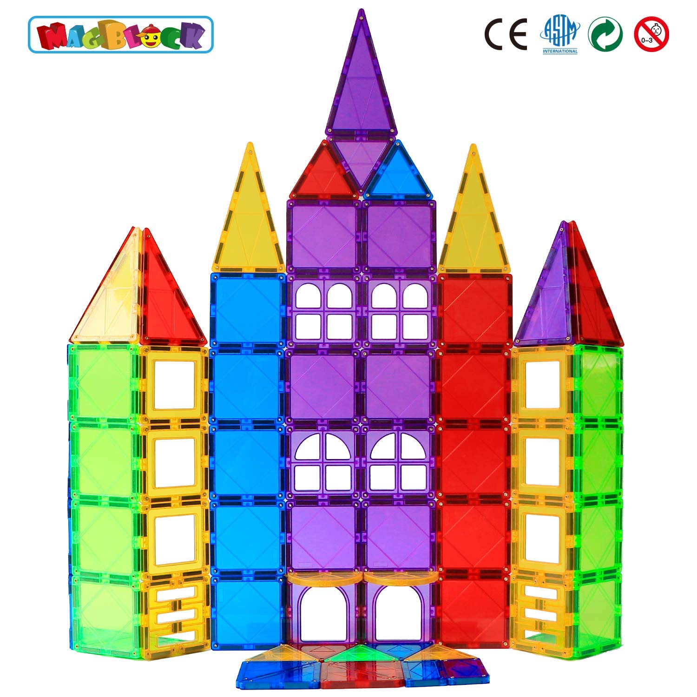 Magblock 66 PCS Magnetic Building Blocks, Magnetic Tiles for Kids Toys丨Magnet Toys Set 3D Building Blocks for Toddler Boys and Girls by Magblock (Image #3)