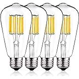 Vintage LED Edison Bulb 100W Equivalent, DORESshop No Dimmable 10W ST64(ST21) Antique Led Filament Light Bulb, Warm White 270