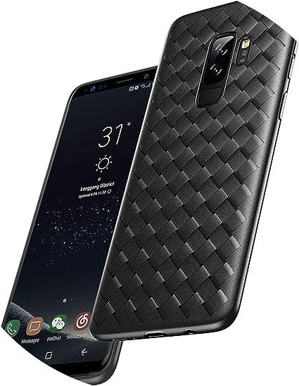 Luxury Case for Samsung Galaxy S9 S9 Plus Grid Weave Super Soft ...