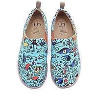 UIN Zapatillas Comodos Planos Mujer Mocasines Verano, Lona