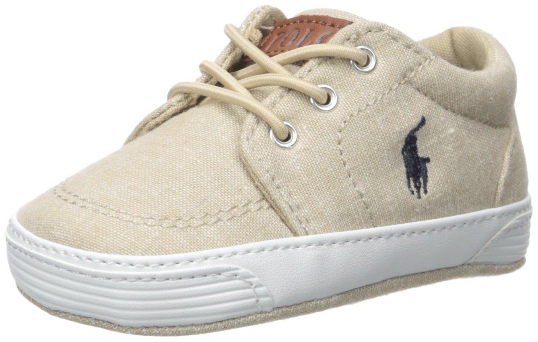 Ralph Lauren Layette Boys' Faxon Gore-K Sneaker, Khaki, 4 M US Toddler