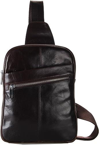 Genda 2Archer Small Leather Chest Bag Crossbody Sling Backpack Single Shoulder Bag